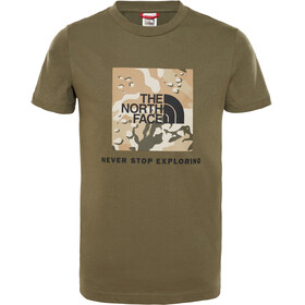 The North Face Box S/S Tee Youth new taupe green/new taupe green desert youth print